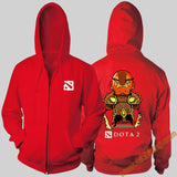 DOTA 2 Full Zipper Hooded Sweatshirts