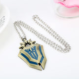 LOL Leona Shield Metal Silver Gold Charm Pendant