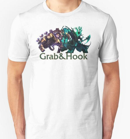 LOL Blitzcrank and Thresh - Grab & Hook T-Shirts
