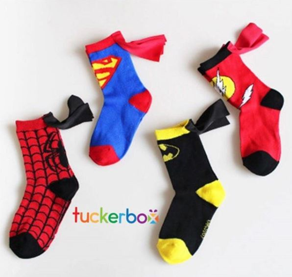 Past Boxes: Superheros - Capes, Socks & Blanket