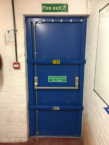 Steel security fire doors