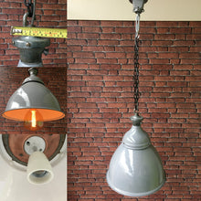 Original Benjamin Enamel Vintage Lighting 1940's Restored & Re wired