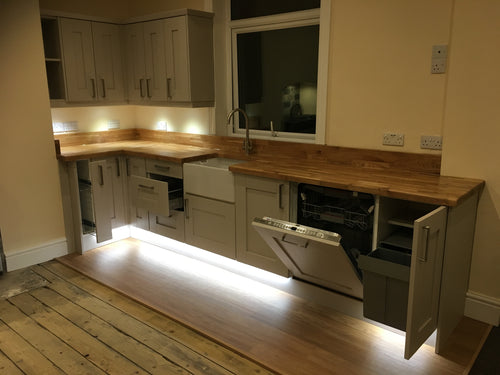 Solid Oak Worktops & Belfast Sink kitchen Supplied & Fit