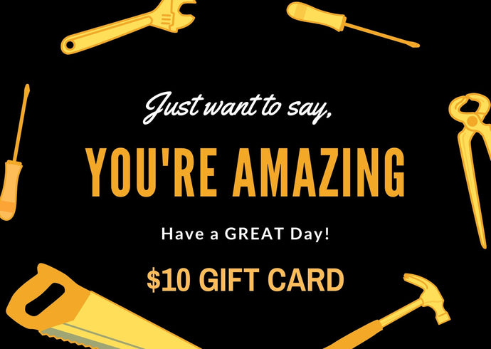 You're amazing Gift Cards