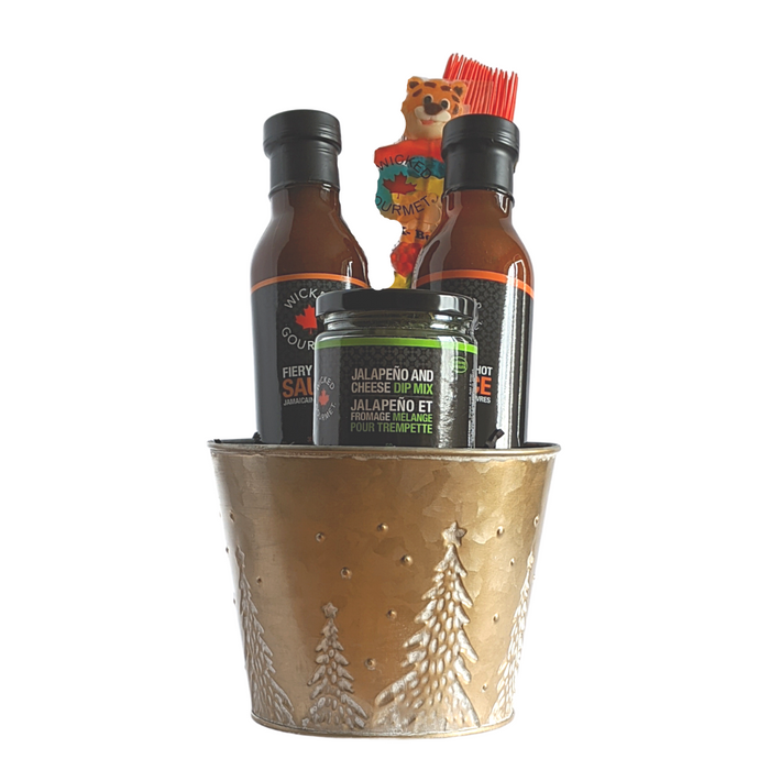 Small HOT BBQ Christmas Basket