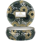 French Cade Lavender 3 Wick Tin Candle