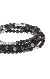 Stone of Inner Stability Wrap in Black Agate
