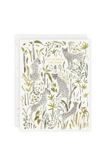 """Grey Cheetahs"" Card"
