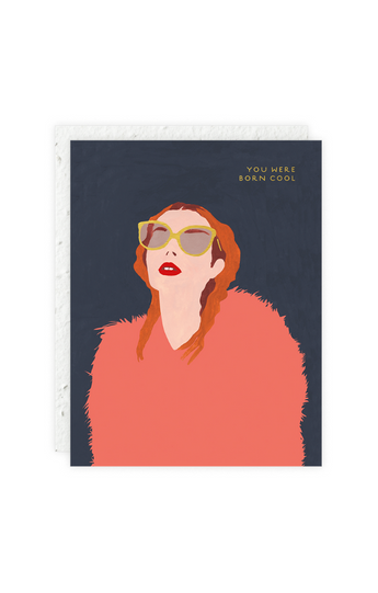 """Glasses & Fur"" Card"