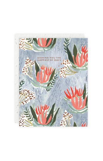 """Spiky Flowers"" Card"