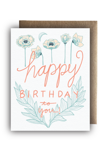 """Poppy Happy B-Day"" Card"