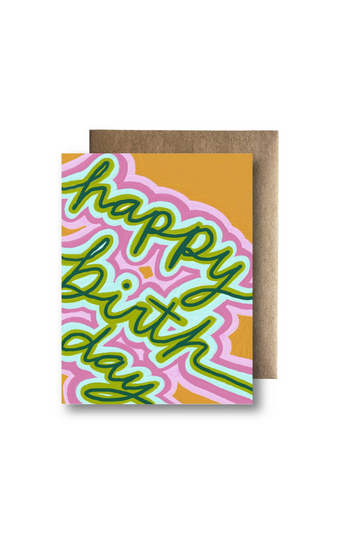 """Bright Happy Birthday"" Card"