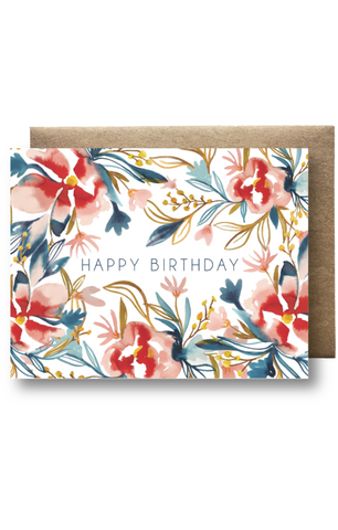 """Watercolor B-Day"" Card"