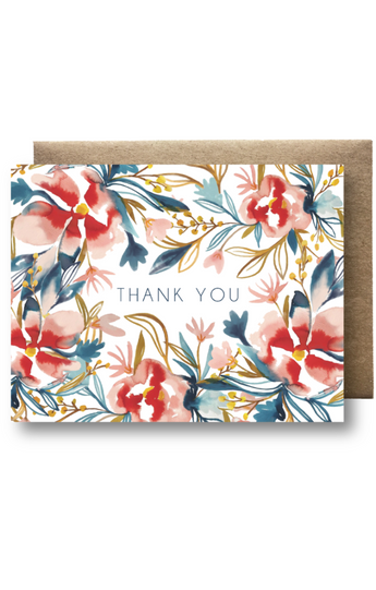"""Thank You"" Watercolor Card"