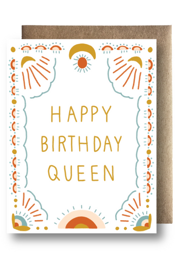 """Happy B-Day Queen"" Card"