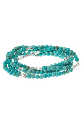 Stone of the Sky Wrap in Turquoise & Silver