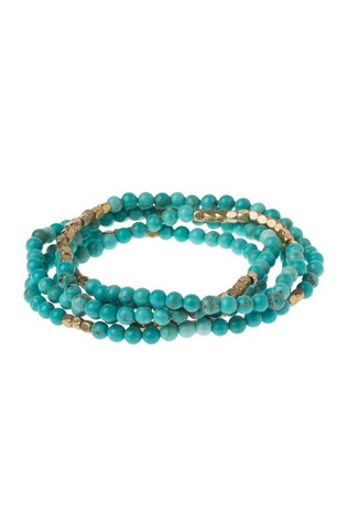 Stone of the Sky Wrap in Turquoise & Gold