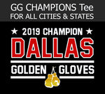 2019 Golden Gloves Champion Tee