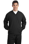Sport-Tek® Tall V-Neck Raglan Wind Shirt. TJST72