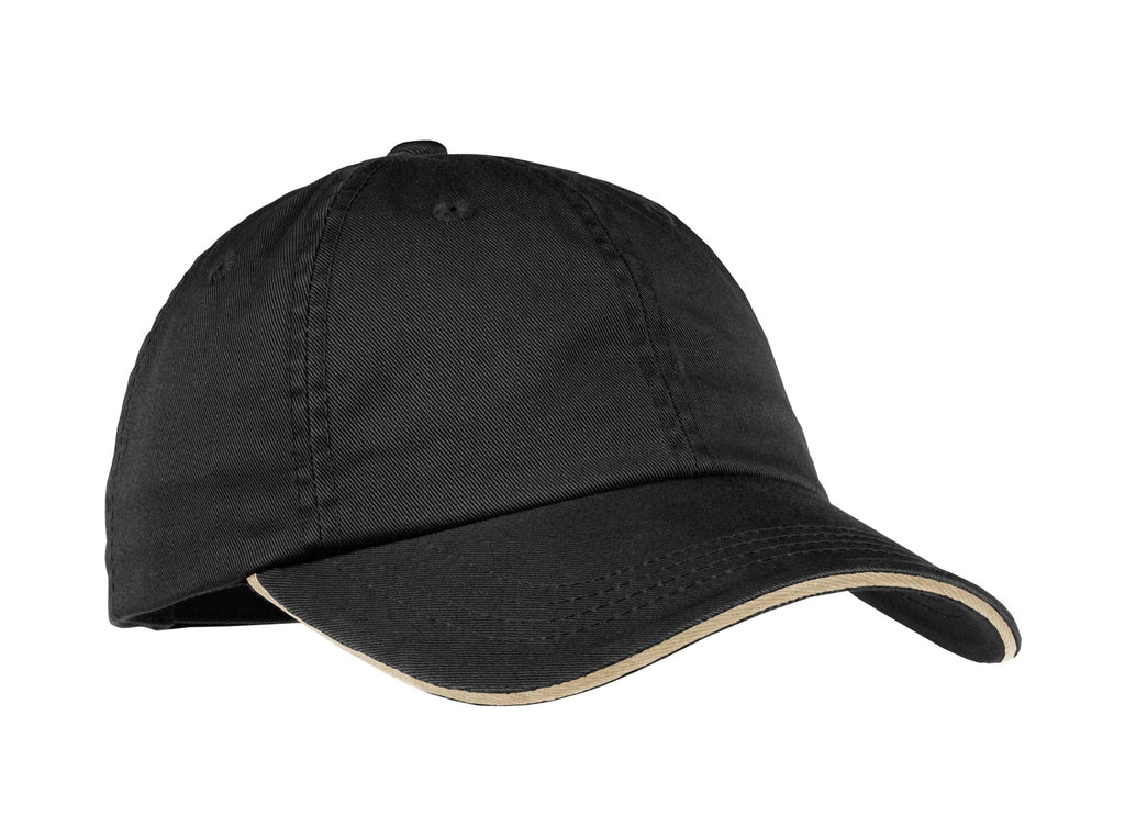 Port Authority® Ladies Sandwich Bill Cap with Striped Closure. LC830
