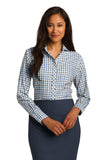 Red House® Ladies Tricolor Check Non-Iron Shirt. RH75