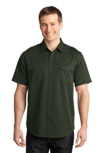 Port Authority® Stain-Release Short Sleeve Twill Shirt. S648