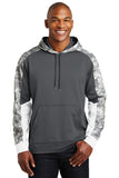 Sport-Tek® Sport-Wick® Mineral Freeze Fleece Colorblock Hooded Pullover. ST231