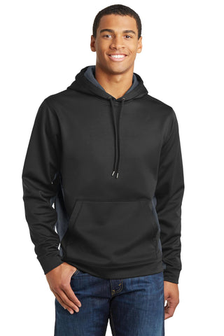 Sport-Tek® Sport-Wick® CamoHex Fleece Colorblock Hooded Pullover. ST239