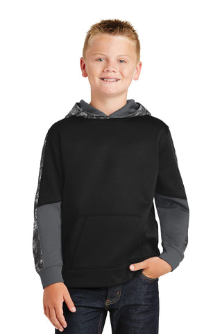 Sport-Tek® Youth Sport-Wick® Mineral Freeze Fleece Colorblock Hooded Pullover. YST231