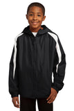 Sport-Tek® Youth Fleece-Lined Colorblock Jacket. YST81
