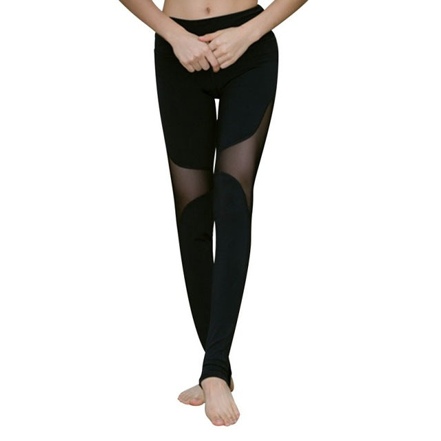 b3fa642a62c7af New Lady Fashion Quick-drying Women's Trample Feet Leggings Mesh Fitness  Hollow Stretch Workout Leggings