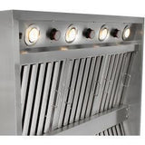 "42"" Blaze Stainless Steel Outdoor Vent Hood With 2000 CFMs-Free Shipping"