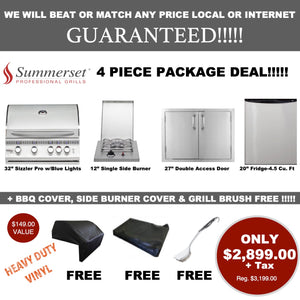 "32"" Summerset Sizzler Pro 4 Piece Package/Free Shipping"