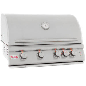 "32"" Blaze 4 Burner LTE Built-In Grill With Lights-Free Shipping"