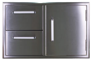"32"" Bonfire 304 Stainless Steel Door & 2 Drawer Combo-Free Shipping"