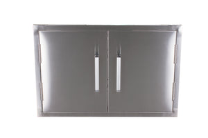 "32"" Bonfire 304 Stainless Steel Double Access Door With Towel Rack-Free Shipping"