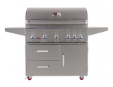 "42"" Bonfire Prime 500 Freestanding Grill With 2 Drawer & Door-Free Shipping"