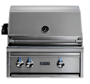 "27"" Lynx Built-In Grill With 1 Sear Burner 1 Ceramic Burner & Rotisserie-Free Shipping"