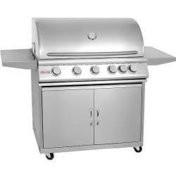 "40"" Blaze 5 Burner Freestanding Grill With Lights-Free Shipping"