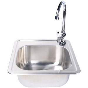 "15""x15"" Firemagic Stainless Steel Sink & Faucet-Free Shipping 3587-3588"