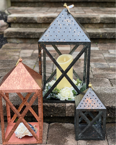 Hanging Tin Lanterns