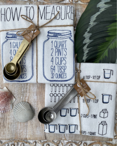How to Measure Dish Towel and Measuring Spoon Set