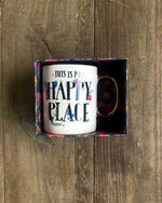Happy Place Gold Handled Mug - Wild Magnolia