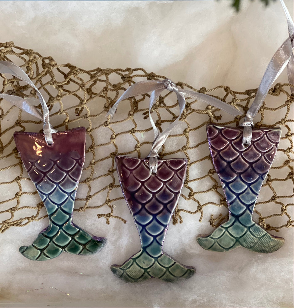 Magical Mermaid Pottery Ornament