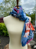 Blue & Bright Floral Scarf