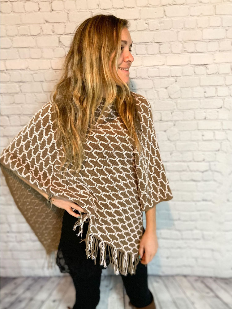 Stayin' In Khaki Poncho