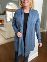 Midnight Blue Waterfall Cardigan - Wild Magnolia