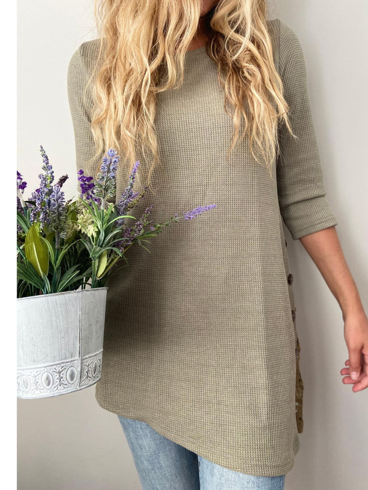 Dusty Olive Asymmetrical Top