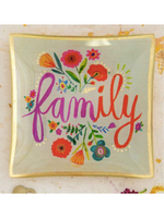 Family Glass Trinket Dish