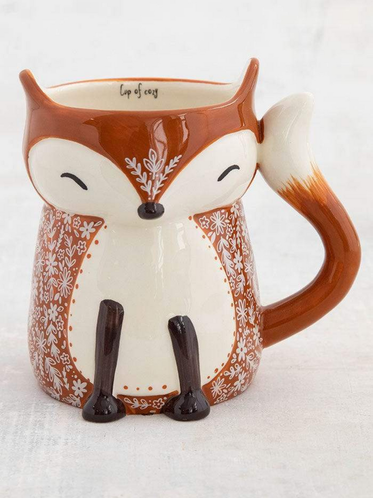 Folk Art Fox Mug - Wild Magnolia